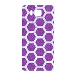 HEXAGON2 WHITE MARBLE & PURPLE DENIM Samsung Galaxy Alpha Hardshell Back Case Front