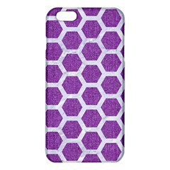 Hexagon2 White Marble & Purple Denim Iphone 6 Plus/6s Plus Tpu Case by trendistuff
