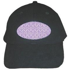 HEXAGON1 WHITE MARBLE & PURPLE DENIM (R) Black Cap