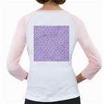 HEXAGON1 WHITE MARBLE & PURPLE DENIM (R) Girly Raglans Back