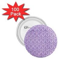 HEXAGON1 WHITE MARBLE & PURPLE DENIM (R) 1.75  Buttons (100 pack)