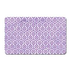 Hexagon1 White Marble & Purple Denim (r) Magnet (rectangular)