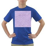 HEXAGON1 WHITE MARBLE & PURPLE DENIM (R) Dark T-Shirt Front