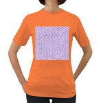 HEXAGON1 WHITE MARBLE & PURPLE DENIM (R) Women s Dark T-Shirt Front
