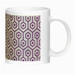 HEXAGON1 WHITE MARBLE & PURPLE DENIM (R) Night Luminous Mugs Right