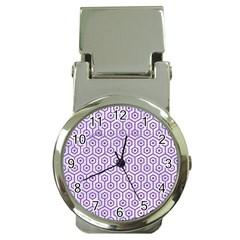Hexagon1 White Marble & Purple Denim (r) Money Clip Watches