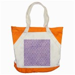 HEXAGON1 WHITE MARBLE & PURPLE DENIM (R) Accent Tote Bag Front