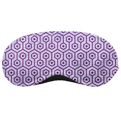 Hexagon1 White Marble & Purple Denim (r) Sleeping Masks