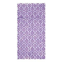 Hexagon1 White Marble & Purple Denim (r) Shower Curtain 36  X 72  (stall)