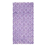 HEXAGON1 WHITE MARBLE & PURPLE DENIM (R) Shower Curtain 36  x 72  (Stall)  33.26 x66.24 Curtain