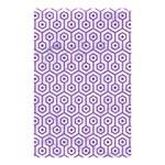 HEXAGON1 WHITE MARBLE & PURPLE DENIM (R) Shower Curtain 48  x 72  (Small)  42.18 x64.8 Curtain