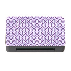 Hexagon1 White Marble & Purple Denim (r) Memory Card Reader With Cf