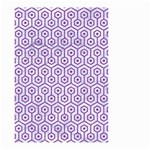 HEXAGON1 WHITE MARBLE & PURPLE DENIM (R) Small Garden Flag (Two Sides) Back