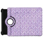 HEXAGON1 WHITE MARBLE & PURPLE DENIM (R) Kindle Fire HD 7  Front