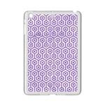 HEXAGON1 WHITE MARBLE & PURPLE DENIM (R) iPad Mini 2 Enamel Coated Cases Front