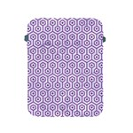 HEXAGON1 WHITE MARBLE & PURPLE DENIM (R) Apple iPad 2/3/4 Protective Soft Cases Front