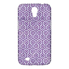 Hexagon1 White Marble & Purple Denim (r) Samsung Galaxy Mega 6 3  I9200 Hardshell Case