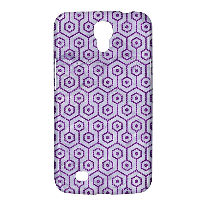 HEXAGON1 WHITE MARBLE & PURPLE DENIM (R) Samsung Galaxy Mega 6.3  I9200 Hardshell Case