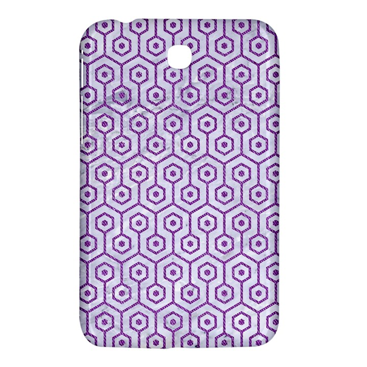 HEXAGON1 WHITE MARBLE & PURPLE DENIM (R) Samsung Galaxy Tab 3 (7 ) P3200 Hardshell Case