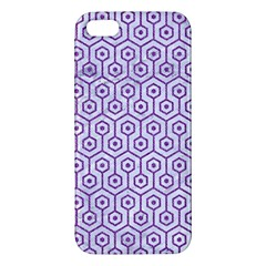 Hexagon1 White Marble & Purple Denim (r) Iphone 5s/ Se Premium Hardshell Case