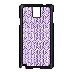 Hexagon1 White Marble & Purple Denim (r) Samsung Galaxy Note 3 N9005 Case (black)