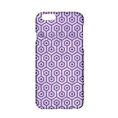 Hexagon1 White Marble & Purple Denim (r) Apple Iphone 6/6s Hardshell Case