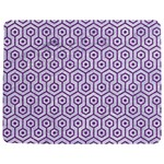 HEXAGON1 WHITE MARBLE & PURPLE DENIM (R) Jigsaw Puzzle Photo Stand (Rectangular) Front