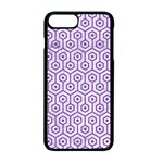 HEXAGON1 WHITE MARBLE & PURPLE DENIM (R) Apple iPhone 7 Plus Seamless Case (Black) Front