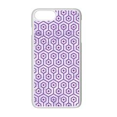 HEXAGON1 WHITE MARBLE & PURPLE DENIM (R) Apple iPhone 7 Plus Seamless Case (White)
