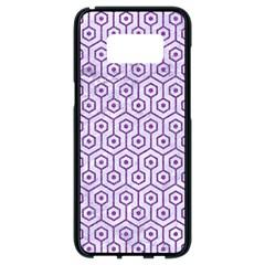 HEXAGON1 WHITE MARBLE & PURPLE DENIM (R) Samsung Galaxy S8 Black Seamless Case