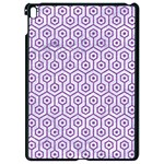 HEXAGON1 WHITE MARBLE & PURPLE DENIM (R) Apple iPad Pro 9.7   Black Seamless Case Front