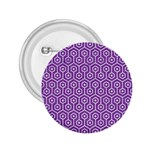 HEXAGON1 WHITE MARBLE & PURPLE DENIM 2.25  Buttons