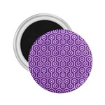 HEXAGON1 WHITE MARBLE & PURPLE DENIM 2.25  Magnets