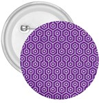 HEXAGON1 WHITE MARBLE & PURPLE DENIM 3  Buttons