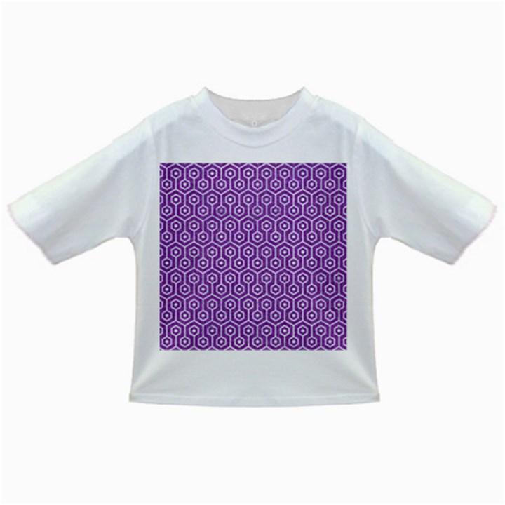 HEXAGON1 WHITE MARBLE & PURPLE DENIM Infant/Toddler T-Shirts
