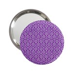 HEXAGON1 WHITE MARBLE & PURPLE DENIM 2.25  Handbag Mirrors