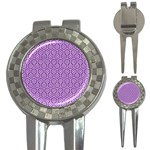 HEXAGON1 WHITE MARBLE & PURPLE DENIM 3-in-1 Golf Divots
