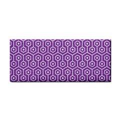 Hexagon1 White Marble & Purple Denim Cosmetic Storage Cases