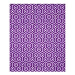 HEXAGON1 WHITE MARBLE & PURPLE DENIM Shower Curtain 60  x 72  (Medium)  54.25 x65.71 Curtain