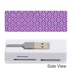 Hexagon1 White Marble & Purple Denim Memory Card Reader (stick)