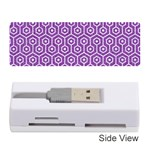 HEXAGON1 WHITE MARBLE & PURPLE DENIM Memory Card Reader (Stick)  Front