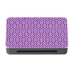 Hexagon1 White Marble & Purple Denim Memory Card Reader With Cf