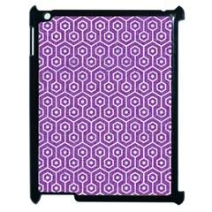 Hexagon1 White Marble & Purple Denim Apple Ipad 2 Case (black)