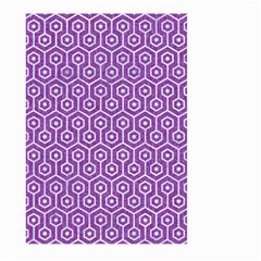 Hexagon1 White Marble & Purple Denim Large Garden Flag (two Sides)
