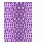 HEXAGON1 WHITE MARBLE & PURPLE DENIM Large Garden Flag (Two Sides) Front