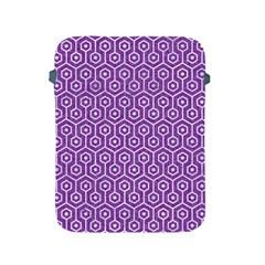 Hexagon1 White Marble & Purple Denim Apple Ipad 2/3/4 Protective Soft Cases