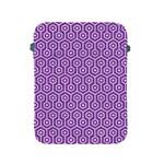HEXAGON1 WHITE MARBLE & PURPLE DENIM Apple iPad 2/3/4 Protective Soft Cases Front