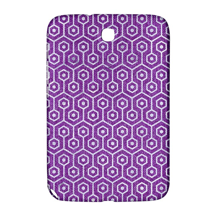 HEXAGON1 WHITE MARBLE & PURPLE DENIM Samsung Galaxy Note 8.0 N5100 Hardshell Case