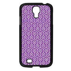 Hexagon1 White Marble & Purple Denim Samsung Galaxy S4 I9500/ I9505 Case (black)