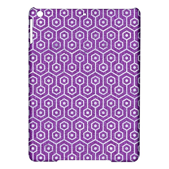 HEXAGON1 WHITE MARBLE & PURPLE DENIM iPad Air Hardshell Cases